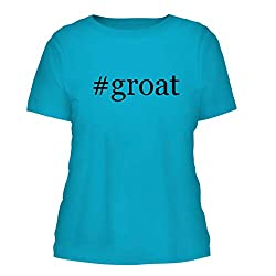 Groat A Nice Hashtag Misses Cut Womens Short Sleeve T Shirt Aqua Large