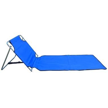 Blue Portable Folding Beach Mat Chair