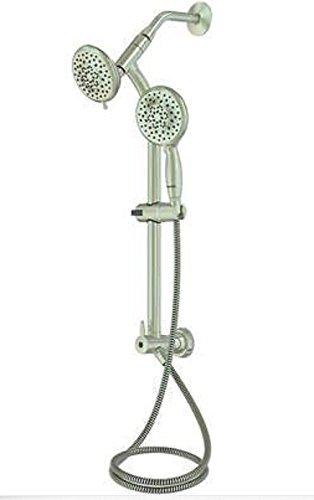 - 5-spray Handshower/ Showerhead Kit Brush Nickel