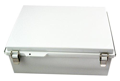BUD Industries PTQ-11068 Pc 10Percentfiberglass Hinged Enclosure, Gray Ip67, Grey ()
