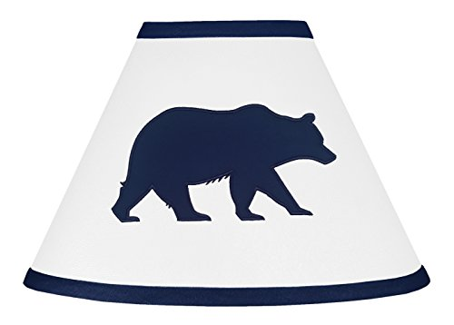 Sweet Jojo Designs Navy Blue and White Lamp Shade for Big Bear Collection by
