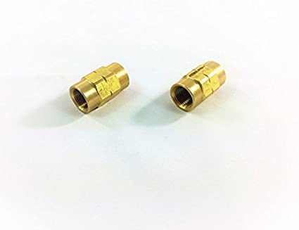 """Pack of 2 ISO//Bubble Flare Unions for 3//16/"""" Tube with 10x1mm Threads"""