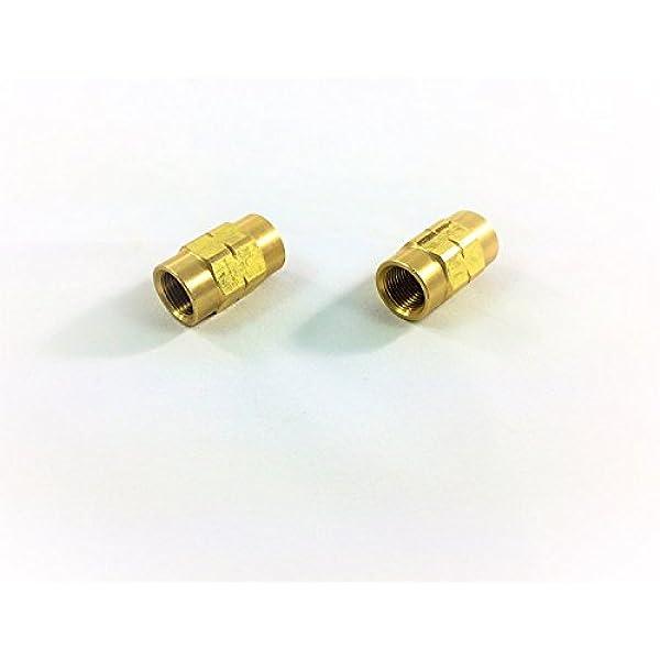 6 Millimeter 4LIFETIMELINES Brass Brake Line Union M12 by 1.0 Bubble 10 per Bag