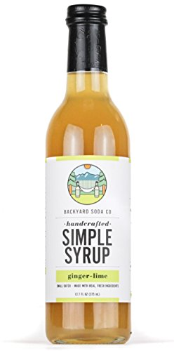 Backyard Soda Co Ginger Lime Simple Syrup