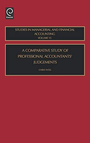 A Comparative Study of Professional Accountants' Judgements, Volume 15 (Studies in Managerial and Financial Accounting) (Best Finance Magazines In India)