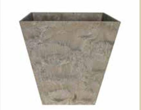 Blumenübertopf Artstone Ella Pot aus Kunststoff, sonnen-und regenbeständig für Innen und Außen, Farbe Taupe 45x45x45cm