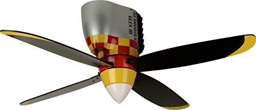 Craftmade Flush Mount Ceiling Fan WB448GG4 Glamorous Glen Warplane, 48 Inch Kids Airplane Hugger Fan from Craftmade