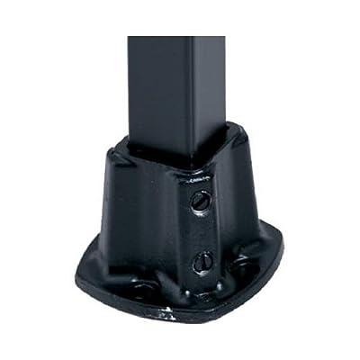 Gilpin Ironworks 579 Windsor Floor Post Flange, Black, 1.25-In.