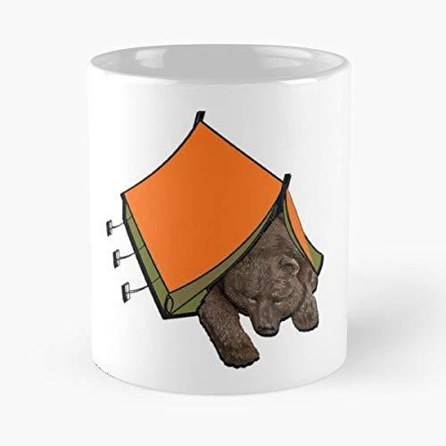 Camping Tent Bear Cub California - Best Gift Ceramic Coffee Mugs