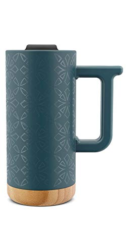 Ello Aspen 16oz Ceramic Travel Mug (Turquoise Sea)
