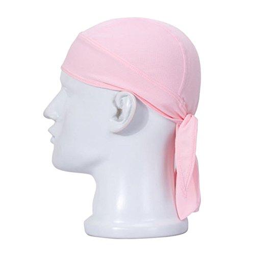 Sunward Cycling Pirate Hat Quick-dry Kerchief Mask Doo Rag Cap Headwear Headband (Pink)