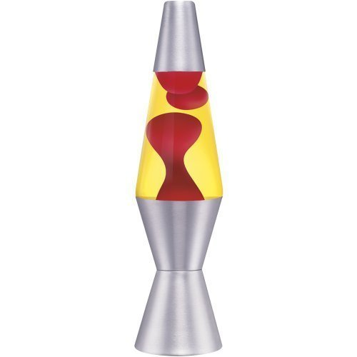 Lava Lite 1951 11-1/2-Inch 12-Ounce Accent Lava Lamp with Silver Base, Red Wax/Yellow Liquid by Lava Lite by Lava Lite