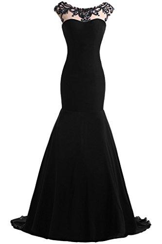 Festkleid Schwarz Mermaid Chiffon Promkleid Lang Abendkleid Ivydressing Damen Elegant amp;Tuell nTz0SB
