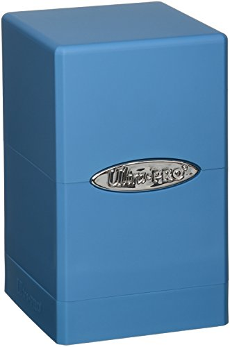 Ultra Pro Light Blue Satin Tower Deck Boxes (Ultra Pro Mtg Pro Tower Deck Box)