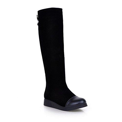 Boots SXC02183 Black Urethane Fashion Resistant AdeeSu Womens Slip WAYXnU8U