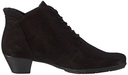 Gabor Comfort Fashion - botines de cuero con cremallera para mujer Negro (schwarz 17)
