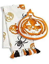 Martha Stewart Halloween Kitchen Towel and Oven Mitt 2-Piece Set -