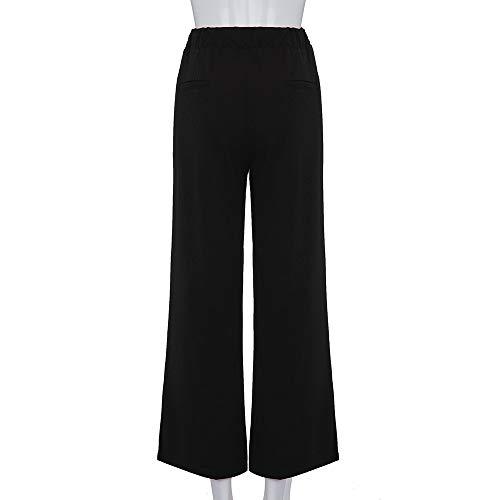Haute de Couleur Noir XL NINGSANJIN Unie Femme Lache Elastique Legging dcontract Grande Taille Causal 5XL Sport Sport Taille Droit Pantalon Femme Yoga YCXxwOq1x