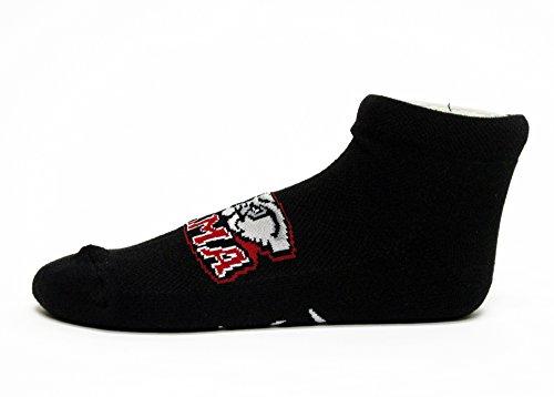 NCAA Alabama Crimson Tide No-Show Footie, Black, One Size
