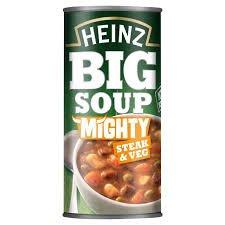 - Heinz Big Soup Angus Steak And Vegetable 500G