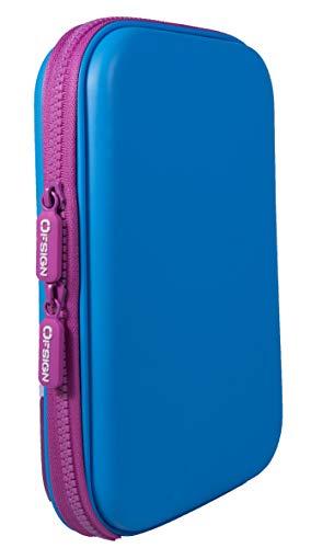 Ofsign Multipurpose Cute Cat Pencil Case Art Blue Pencil Pouch Pencil Cases