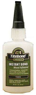 15 Pack Franklin 6221 Titebond Instant Bond Thick Wood Adhesive - 2-oz Bottle by Franklin International
