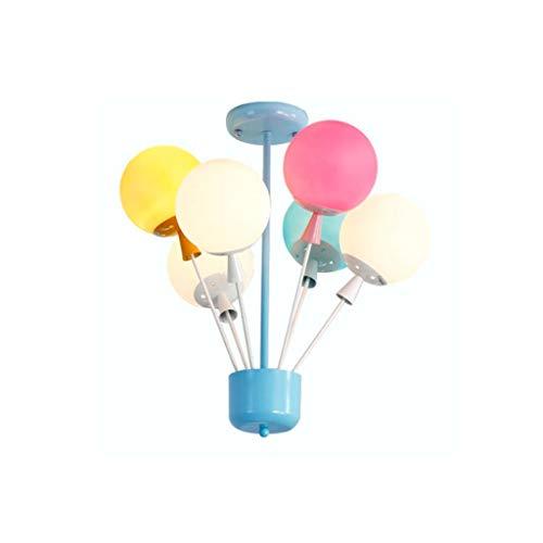 FriendShip Shop Chandelier- Children's Room Balloon Chandelier Boy Girl Bedroom Light Creative Modern Simple Living Room Ceiling Light (Color : Color) -