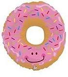 Betallic 30' Pink Frosted Rainbow Sprinkle Doughnut Foil Mylar Balloon