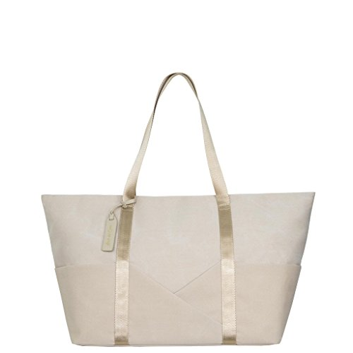 Aide de Camp - Nadine Women's Laptop and Camera Tote Bag with Removable Padding (Cream) by Aide de Camp
