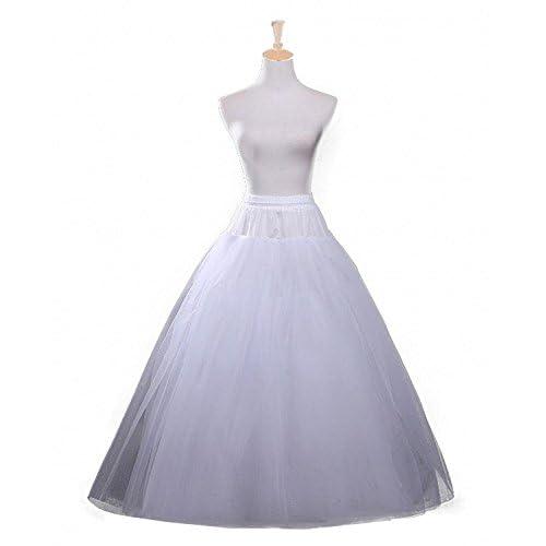 Discount Dressever Women's 4 Layers Bridal Petticoat Crinoline Underskirt