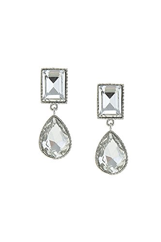 BAUBLES & CO FAUX GEM FRAMED LINKED EARRINGS - Judith 18k Ripka Ring