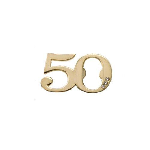 168 Fashioncraft Metal 50th Design Golden Bottle Opener Anniversary Birthday Favors