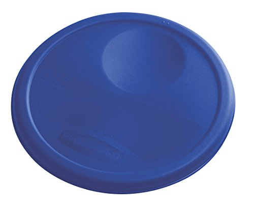 Rubbermaid Commercial Products 1980382 Rubbermaid Commercial Plastic Food Storage Container Lid, Round, Blue, 8 Quart