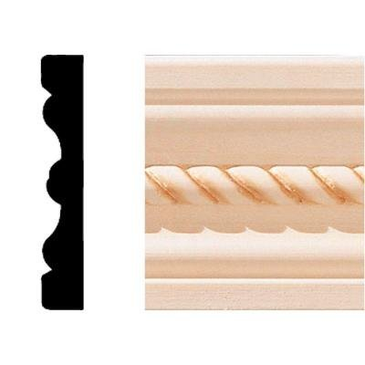 House of Fara 5/8 in. x 4 in. x 8 ft. Hardwood Embossed Base Moulding