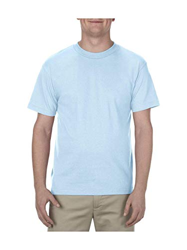 Alstyle Apparel AAA Men's Classic Short Sleeve T-Shirt, Powder Blue, 2X-Large