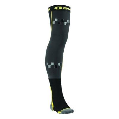 (EVS Fusion Socks Size 10-13 Black/Hi-Vis Yellow)