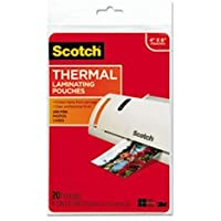 Scotch® MMMTP590020 PHOTO SIZE THERMAL LAMINATING POUCHES, 5 MIL, 6 X 4, 20/PACK **Full Carton Of:24 PK **