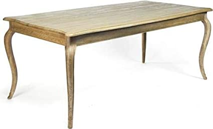Amazon.com: EuroLuxHome Dining Table Vineyard Limed Gray Oak ...