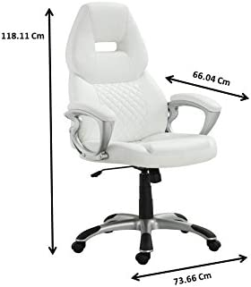 Coaster Home Furnishings Adjustable Height Office Chair White and Silver