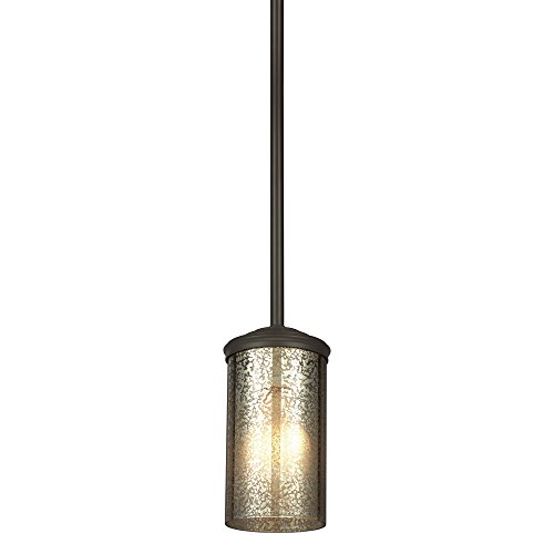 Sea Gull Lighting 6110401-715 Sfera One-Light Mini-Pendant with Mercury Glass, Autumn Bronze - Lighting Seagull Pendant