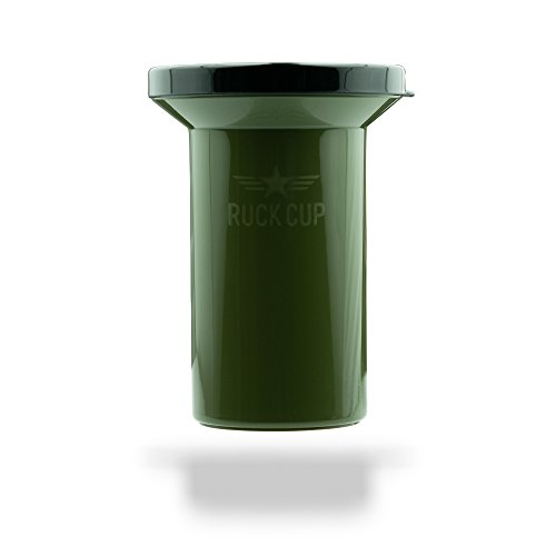 Ruck Cup | Portable Chewing Tobacco Spittoon Dip Spit Cup Jug for your Home, Motorcycle, Car, or Truck | Military Camo Green