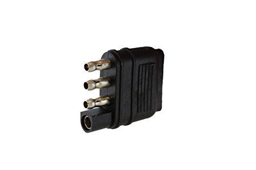 Hitch Light Trailer Wiring Harness Extender 4-Way 4-Pin Plug Flat 20 Gauge ABN Trailer Wire Extension 1ft