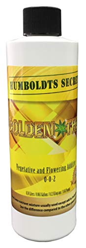 Humboldts Secret Best Plant Food for Plants and Trees Golden Tree, Explosive Growth, Yield Increaser, Dying Plant Rescuer, Use on Flowers, Roses, Fruit, Vegetables, Tomatoes, Organic (8 Ounce)