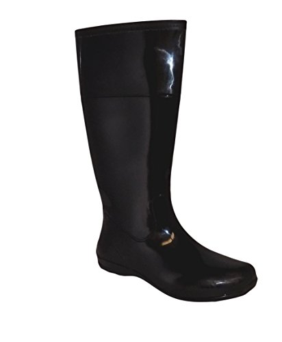 Womens Boots Itasca (Itasca Splashers Womens Black PVC Waterproof Boots (8, Black))