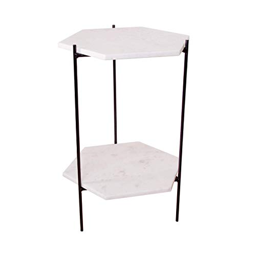 Marble Hexagon Accent Table 24″ tall