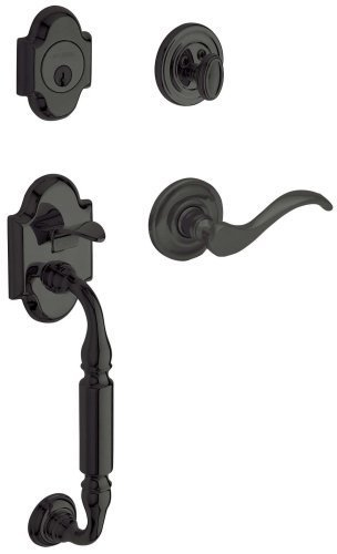 - Baldwin 85305.102.LENT Canterbury Sectional Trim Left Hand Handleset with Wave Lever, Oil Rubbed Bronze by Baldwin