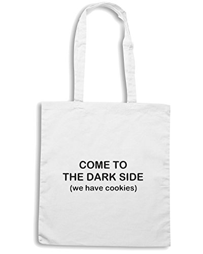 T-Shirtshock - Bolsa para la compra TDM00048 come to the dark side Blanco