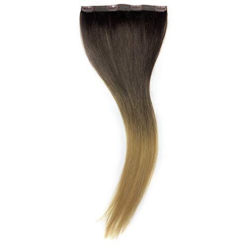 Maxy #T218 Honey Ombre Blonde Clip In 100% Human Hair Extensions 20
