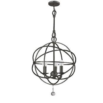 Amazon crystorama 9225 eb traditional three light mini crystorama 9225 eb traditional three light mini chandeliers from solaris collection in bronzedarkfinish aloadofball Images