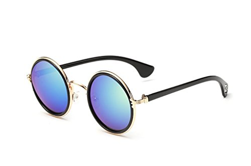 Sol Metal Gafas Glasses Unisex Retro Classic Yxsd Color Sun de polarizadas Frame 9 Round 8 40wPEq